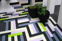 Swedish firm Apokalyps Labotek makes funky modern parquet from old car tyres.