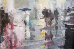 Wet Day Oxford Street by Bill Dean