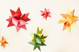 DejaOoh's gorgeous hand-made paper origami decorations come in a wide range of colours and sizes, from £5.50, dejaoohfurniture.co.uk
