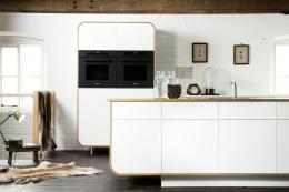 DeVol's freestanding Air Kitchen with its classic retro design is made from recyclable aluminium and long-lasting Corian, a solid surface material. From £20,000. www.devolkitchens.co.uk