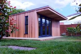 Oeco Garden Rooms use red cedar that doesn't need preservatives or treatments. Prices from £13,074