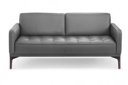 Joyce sofa in leather from high end Austrian furniture brand Wittmann. Its hides are from European cattle and are dyed in an eco-friendly way, it says. www.wittmann.at