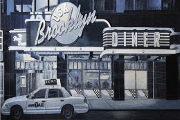 The Brooklyn Diner, denim on denim, 122x61cms