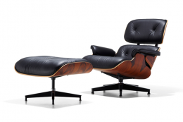 Iconic Eames' Lounge chair and ottoman by Vitra is 65 per cent recyclable and uses 24 per cent recycled materials. www.vitra.com