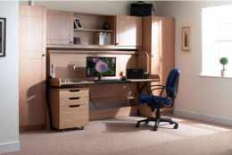 The Study Bed is excellent for small rooms. It's a wooden desk that quickly converts to a comfortable bed. www.studybed.co.uk