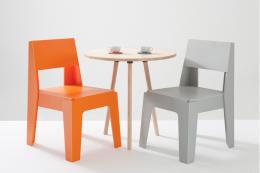 Australian designers DesignByThem launched the recycled plastic Butter chair last year. It's made from HDPE plastic, mainly waste milk cartons and factory waste