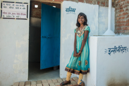 Toilets have made a huge impact on pupil attendance at schools in remote parts of India. Picture courtesy of WaterAid