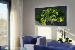 A plant painting.. these plants live in a frame and hang on the wall.. by Mobilane