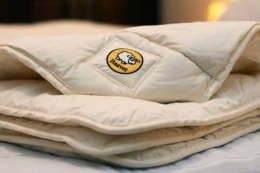 Baavet wool duvets are made in Harlech from British wool. Medium weight duvet £106. www.baavet.co.uk