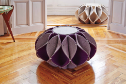 Ruff thick felt seating pouffes by Romero Vallejo for Gan Rugs