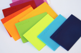 FORMcard packs come in lots of colours. Pigments are non styrene derived.