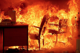 Furniture burns quickly but house fires starting in furniture are fewer than 50 a year in the UK