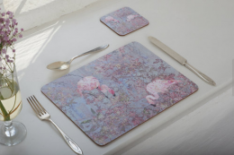 Pretty Flamingo mats and coasters by Rachel Lee of The Animals Of, www.theanimalsof.co.uk