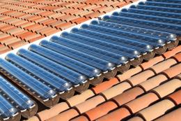 Virtu panels on a tiles roof
