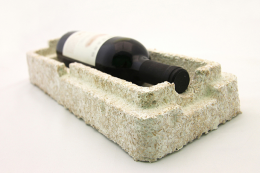Wine packaging made from mushroom mycelium by New York based Ecovative