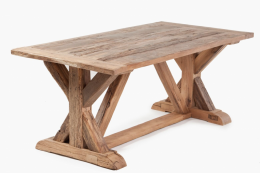 Substantial reclaimed oak dining table from Mobius Living, from £1,250, mobiusliving.co.uk