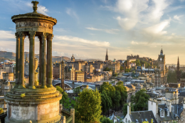 Edinburgh's famous skyline