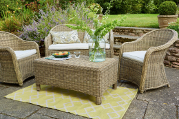 UK brand Weaver Green's rugs are very soft and tactile - made from PET plastic bottles, they feel surprisingly wool-like
