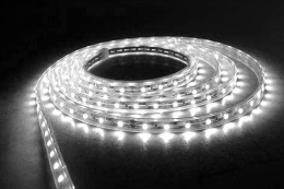 Rolls of LED strip lighting - perfect for under kitchen cupboard or any shelving. www.lighting-direct.co.uk