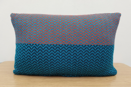 Wool cushion, 18x12 in, made in Scotland by Amy Bond Woven Textiles, £67. Handmade Edinburgh
