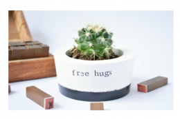 Free hugs - ceramic plant pot by {IM}Perfect, £13, made in the UK.