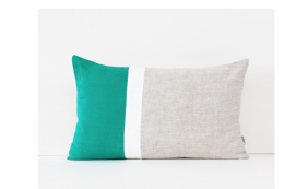Linen & Stripes linen cushion, handmade in Liverpool, £34.45, 12x20 in