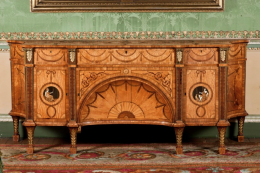 Ornate and intricate marquetry