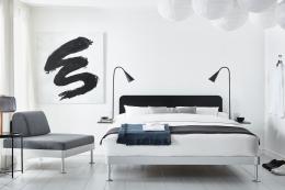 Delaktig aluminium kingsize bed platform with black headboard