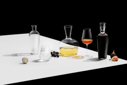 For the wine buff in your life - a range of modern wide necked glass decanters from the Jancis Robinson range at Richard Brendon, from £99