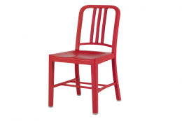 III Navy Chair from US company Emeco, 100 per cent recycled plastic, £348 www.madeindesign.co.uk