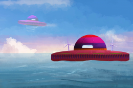 UFO house on water