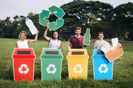 Having a designated recycling bin is key to get into the recycling habit. www.wheeliebinsolutions.co.uk  bins from £39.50