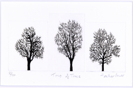 Limited edition trees from printmaker Heather Power