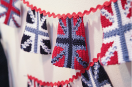 Knitted bunting will last for years