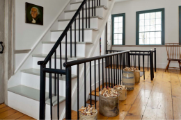 Shaker influences are apparent in the landing and staircase of the Ferney farmhouse in Schoharie County