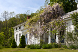 Wistaria Lodge in Upstate New York is an example of Greek Revival architecture
