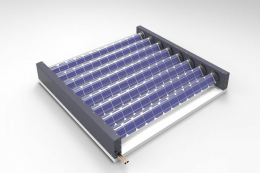 A Virtu panel that generates both electricity and thermal energy to heat water