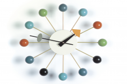 A timeless classic, the George Nelson Ball Wall clock, £212 at Chaplins