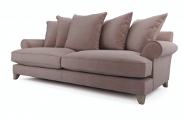 Sofas upholstered with Aquaclean fabrics are easy to clean with just water