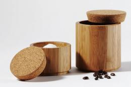 Cork and bamboo canisters from Green Tulip www.greentulip.co.uk