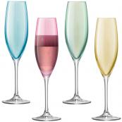 LSA's set of four glass champagne flutes, £29.95, at Annabel James. www.annabeljames.co.uk