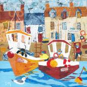 Fishbones and Boats paper collage, £150,  by Dawn Maciocia, from Made by Hands of Britain