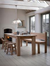 Hambledon raw oak dining table from The Garden Trading Company, £950