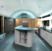 Kitchen in Rigg Beck house in Cumbria by Knox Bhavan architects