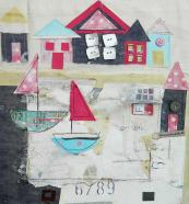 Beach Huts and a Lake, £135, by Louise O'Hara, from Made by Hands of Britain