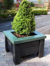 Planter made from recycled plastic, available at British Recycled Plastic. www.britishrecycledplastic.co.uk