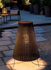 Garbi woven rattan outdoor light by Carpyen