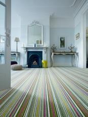 Biscayne wool stripe carpet from Crucial Trading is woven in Yorkshire. £69m2. www.crucial-trading.com