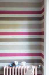 Farrow & Ball's Chromatic Stripes is painted on FSC-certified paper. £60 per 10m