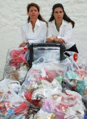 Louise and Nicky (right) want to do their bit to reduce landfill